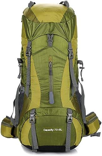 DBSCD Sac à Dos de randonnée, Sac à Dos 75L Voyage Trekking Randonnée Camping Escalade Alpinisme Sac à Dos avec Housse de Pluie pour Hommes Femmes Sport en Plein air, E