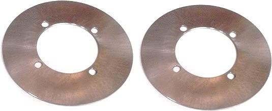 Pair of Rear Disc Brake Rotors for Yamaha Rhino 700 2008-2013 4x4 UTV