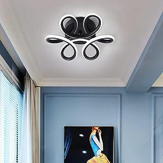 Comely Plafonnier LED, 30W Lampe de Lustre, Design Courbé Moderne Luminaire Plafonnier pour Couloir Balcon Salon Cuisine S...