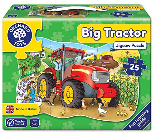 Big Tractor Shaped Floor Puzzle