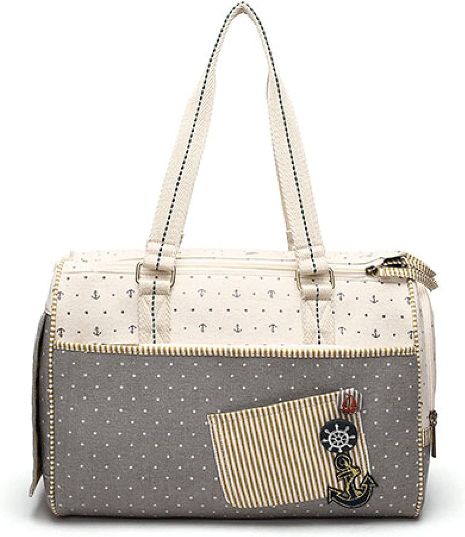 CYCWT Breathable Pet Bag Pet Out Bag Pet Travel Bag Portable Fashion Sail Bag Dog Bag,Beige38  17  28