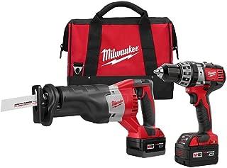 Milwaukee 2694-22 M18 18-Volt Lithium-Ion Cordless Hammer Drill/Sawzall Combo Kit (2-Tool)