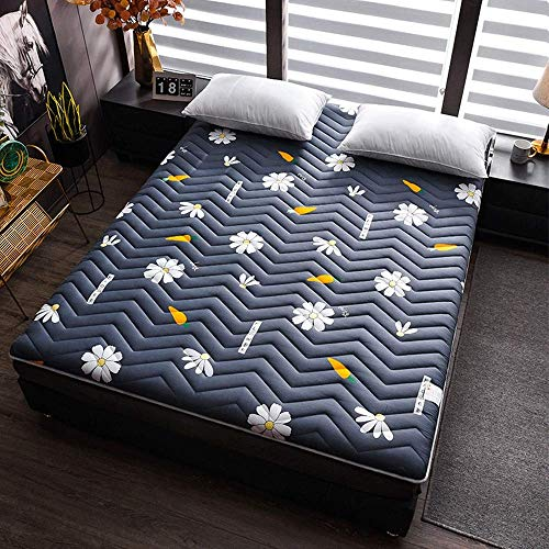 GuoEY Tatami Mattress topper,Thicken Floor Mat, Reversible Quilted Breathable Soft Japanese Folding Futon Pad,A,100 * 200cm