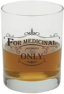 Santa Barbara Design Studio SB Design Studio SIPS Old Fashioned Whiskey Glass, 13.5-Ounce, Medicinal Purpose