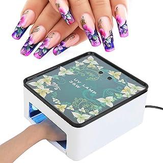 Lámpara de secado de esmalte de uñas, 36W LED inteligente UV Protección de ojos de moda Gel de curado de luz de uñas Máquina de secado de esmalte de uñas Herramienta de manicura Luz LED(UE: 220V)
