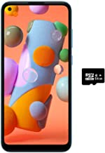 "$155 » Samsung Galaxy A11 (32GB, 2GB) 6.4"" Dual SIM GSM Unlocked, Global 4G LTE International Model (T-Mobile,AT&T,Metro,Cricket) A115M/DS (64GB SD Bundle, Blue)"
