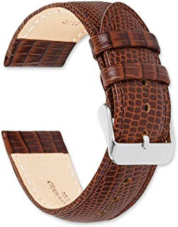 deBeer Teju Lizard Grain Watch Band/Strap – Choose Color - (Sizes – 14mm, 16mm, 18mm, 19mm, 20mm, or 22mm)