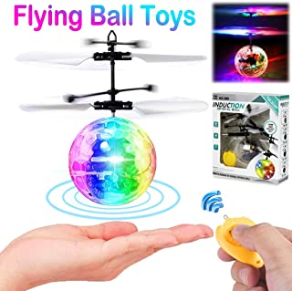 Flying Ball Toys for Kids, RC Toys for Boys Girls Birthday Party Summer Rechargeable Light Up Ball Drone Infrared Induction Helicopter with Remote Control for Indoor Outdoor Games