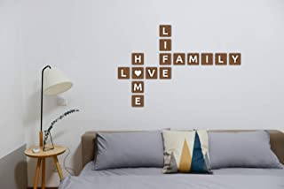 Personalized 3D Brown Wooden Letters | Custom family name sign | Wooden scrabble tiles | Brown Scrabble letters | Wall art | Alphabet letters