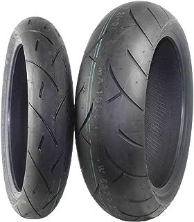 Full Bore F2 Sport Bike Tire set (1 Front 120/70ZR17 & 1 Rear 160/60ZR17) Tires pair 120/70-17 160/60-17