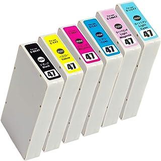 IC6CL47 (BK/C/M/Y/LC/LM)-6色セット (目印:ブドウ) エプソン用互換インクカートリッジ 残量表示 新互換チップ搭載 QR説明書 【0619製】 【型番】 PM-A970 PM-T990