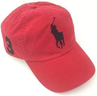 Ralph Lauren Red Cotton Baseball Hat For Men