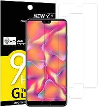 NEW'C Verre Trempé pour Huawei P20,[Pack de 2] Film Protection écran - Anti Rayures - sans Bulles d'air -Ultra Résistant (0,33mm HD Ultra Transparent) Dureté 9H Glass