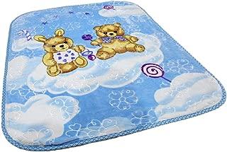 AVI Soft Cartoon Single Mink Blanket (Sky Blue)