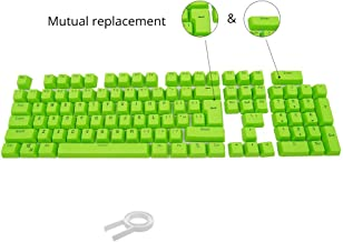 Bossi 104 PBT Keycap Set Doubleshot Injection Backlit Keycaps for Mechanical Keyboard with Key Puller - Green