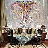 Hhcyy Papier Peint Riligion Elephant Animal Murals 3D Peintures Murales Pour Papier Peint Mur 3D Mur Photo Murale Pour Salon Fond 3D Peinture Murale-120Cmx100Cm