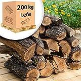 200 kg, 800 Litros leña para chimenea alto poder calorífico. Pallet 1/5 tonelada. Troncos cortos 40 cm, Estufa, barbacoa, fuego al aire libre, tala sostenible