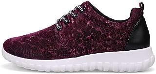 Bin Zhang Women's Athletic Shoes Hidden Heel Lace Up Leisure Shoes (Color : Purple, Size : 2.5 UK Child)