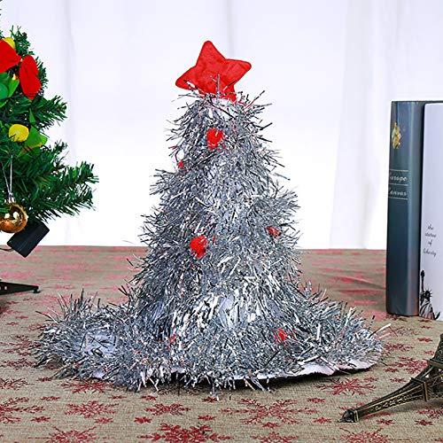 æ - Sombrero de árbol de Navidad con tapa de estrella, 41,9 x 50 cm para árbol de Navidad, decoración en forma de árbol de Navidad, decoración para disfraces de carnaval
