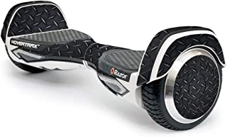 MightySkins Skin Compatible With Razor Hovertrax 2.0 Hover Board - Black Diamond Plate | Protective, Durable, and Unique V...