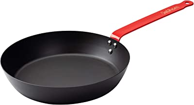 Delihom Carbon Steel Pan, Skillet Omelette Pan, Cooking Frying pans with Stay-Cool Handle for All Stove Tops, Healthy and Safe Cookware, PFOA Free, Black(10 Inch)