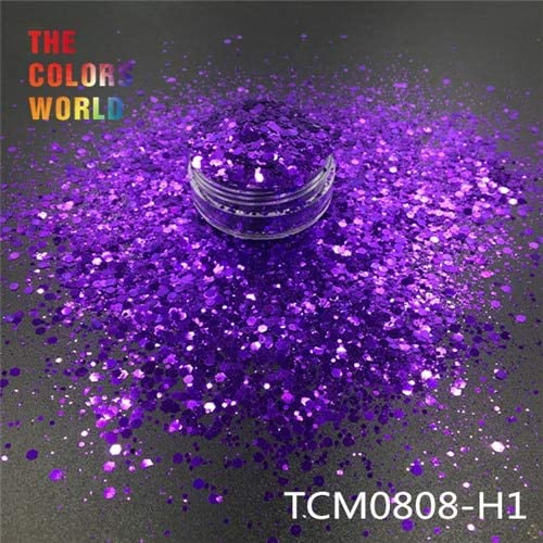 Gabcus TCT-193 Oakland Mall Hexagon Shape Mix Metallic Credence for Nail Glitter Color
