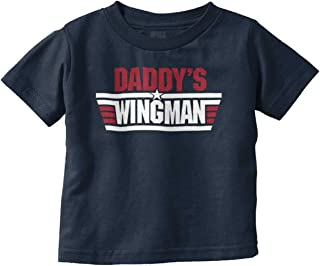 Brisco Brands Daddys Wingman Funny Newborn Fathers Day Infant Toddler T Shirt