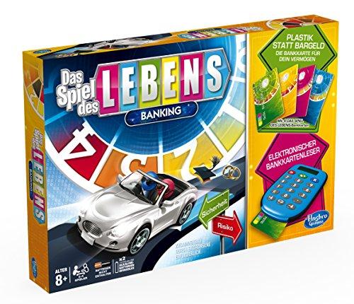 Hasbro A6769100 - Spiel des Lebens Banking, Familien-Brettspiel, deutsche Version