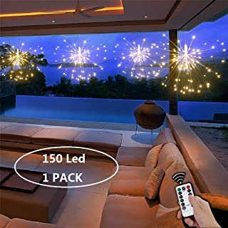 Fairy String Led Lights,Ledes 150 LED 75 Strands Battery Powered Copper Wire Twinkle Micro Mini Starry Starburst Twig Light for DIY Home Party Tree Garden Patio Halloween Decoration Warm White 1-Pack