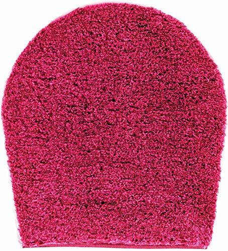 Gr& Badteppich 32 mm 100prozent Polyacryl, ultra soft, rutschfest, ÖKO-TEX-zertifiziert, 5 Jahre Garantie, LEX, WC-Deckelbezug 47x50 cm, pink