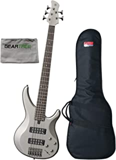 $399 Get Yamaha TRBX305 PWT Pewter 5-String Bass Guitar w/Polish Cloth and Gig Bag