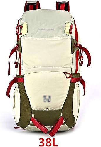 Sac à dos randonnée Homme   Femme 38L Grande capacité Outdoor Sac de montagne Sac imperméable à l'eau Voyage Voyage Sacs à dos de randonnée ( Couleur   A , taille   38L-562918cm )