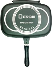 Dessini Aluminum Two-Sided Double Grill Non-stick Pressure Pan, Black