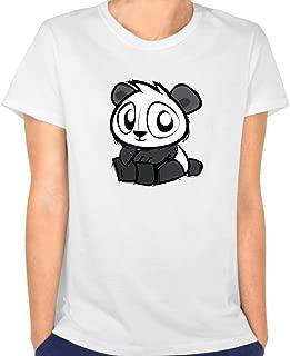CRIS Cropped Opem Cute Oh Panda Eyes T Shirts White For Women