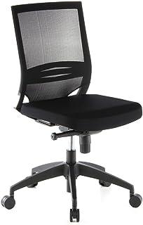 hjh OFFICE 657210 silla de oficina PORTO ECO tela/malla negro sin reposabrazos silla giratoria con r