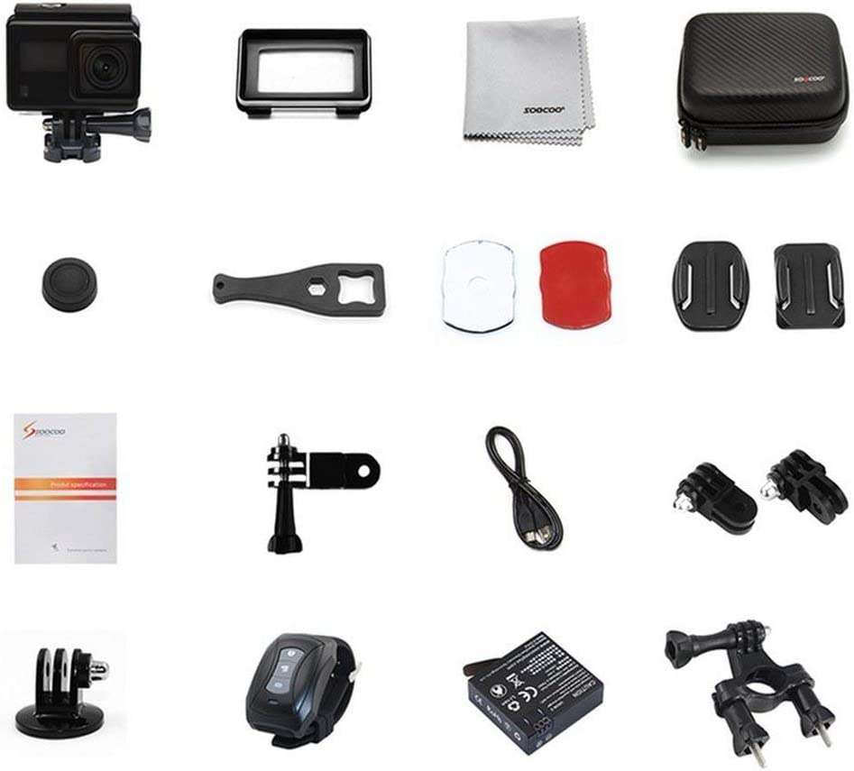 DAMAJIANGM SOOCOO S200 Cámara de acción Control de Voz Micrófono Externo Ultra HD 4K NTK96660 + IMX078 con WiFi GPS 2.45