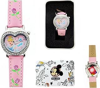 Disney Princess Cinderella Pink Band with Crystal Watch