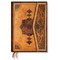 Paperblanks Dayplanners 2017 Safavid Midi Day-at-a-Time 12Months DE3398-1 英語版 正規輸入品