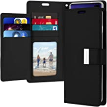 Goospery Rich Wallet for Samsung Galaxy S10 Plus Case (2019) Extra Card Slots Leather Flip Cover (Black) S10P-RIC-BLK