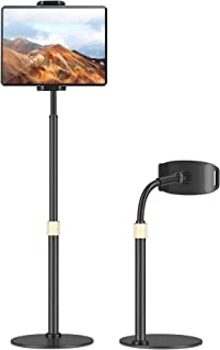 Tablet Holder Stand – Tryone Adjustable iPad Holder Stand with Adjustable Height & 360 Degree Rotating, Desktop Tablet Sta...