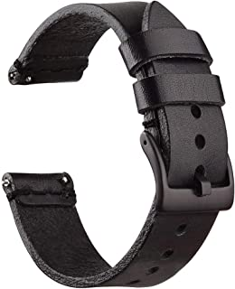 wide leather watch strap