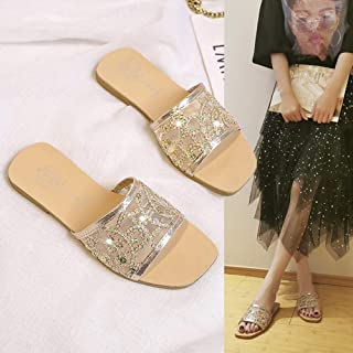 Summer slippers female hollow breathable outer wear fashion wild flat shoes
