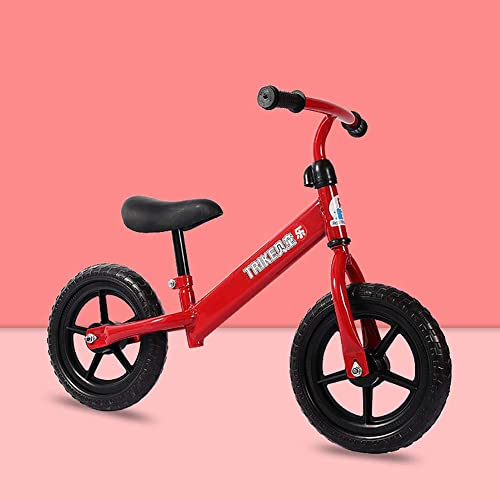 ZXDBK 12  Bicicleta de Equilibrio, Bicicleta para Caminar Aleación de Aluminio Carreras Versátiles, Asiento Ajustable per Bambini da 2 a 5 Anni Bici Sin Pedales