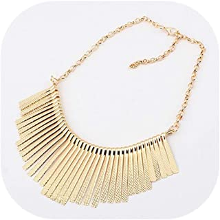 Sparkling Bars Choker Necklace Sequin Bib Chunky Collar Sweater Necklace Fashion Jewelry for Women