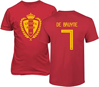 Tcamp Belgium 2018 National Soccer #7 Kevin DE BRUYNE World Championship Men's T-Shirt