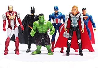 Jubasix 6 PCS Action Figure Set - Superhero Action Figures - PVC Figure Toy Dolls – Hero Cake Toppers