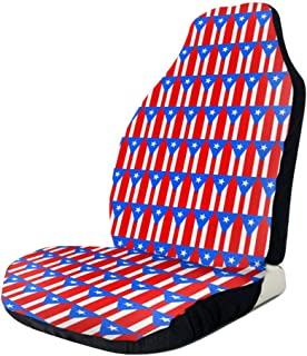 UlNight Car Seat Cover Flag of Puerto Rico Pattern Universal Easy Install Front Seats Protectors
