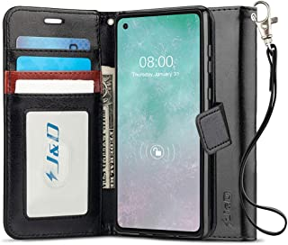 J&D Case Compatibel met Motorola Moto G8 Power Hoesje, Wallet Stand Slim Fit Heavy Duty Beschermende Schokbestendige Flipc...