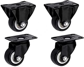 Mobile Caster 4 Pieces Medium Polyurethane Universal Furniture Casters,Scaffold Trolley Castor Wheels,Replace Accessories ...