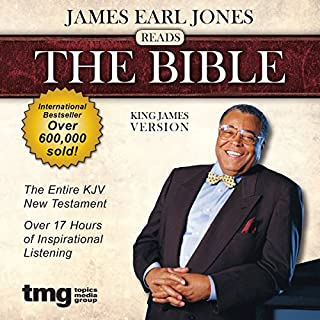 James Earl Jones Reads The Bible: King James Version                   By:                                                                                                                                 Topics Media Group                               Narrated by:                                                                                                                                 James Earl Jones                      Length: 17 hrs and 15 mins     618 ratings     Overall 4.4